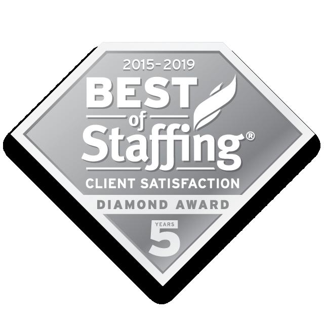 Best of Staffing - Client Satisfaction - Diamond Award