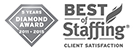 Best of Staffing - Talent Satisfaction - Diamond Award