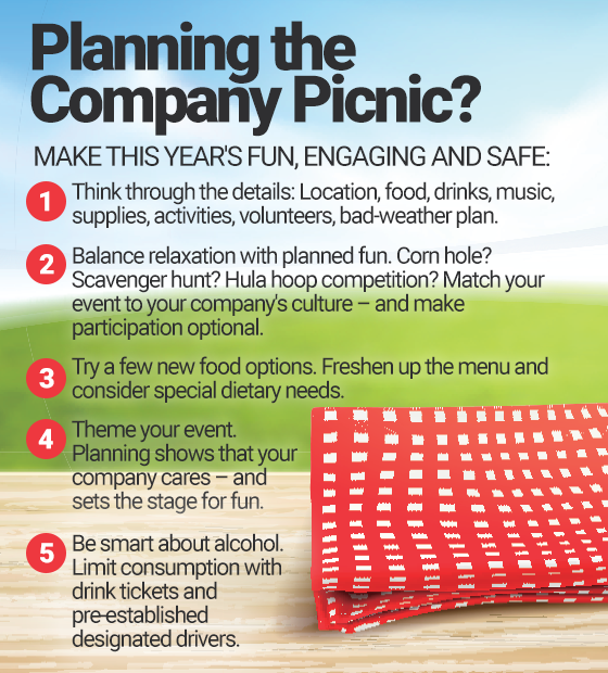 Infographic: Planning the Company Picnic