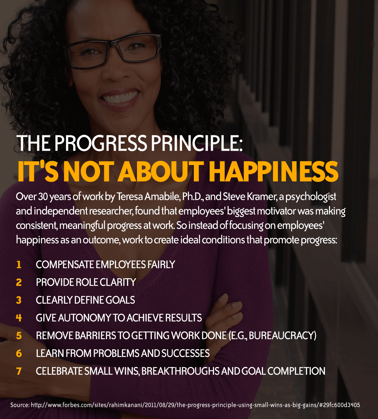 INFOGRAPHIC: The Progress Principle: It's Not About Happiness