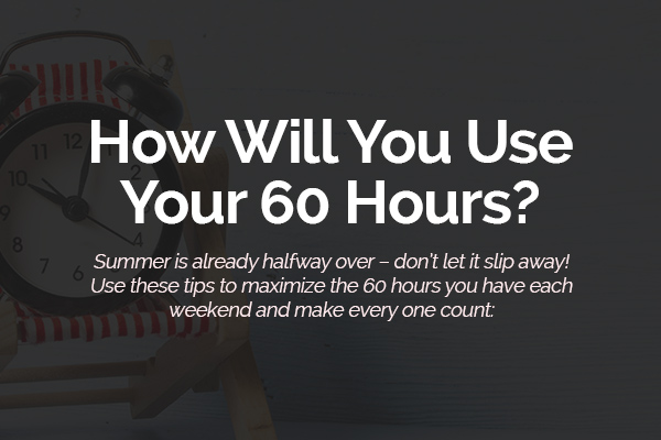 How Will You Use Your 60 Hours?