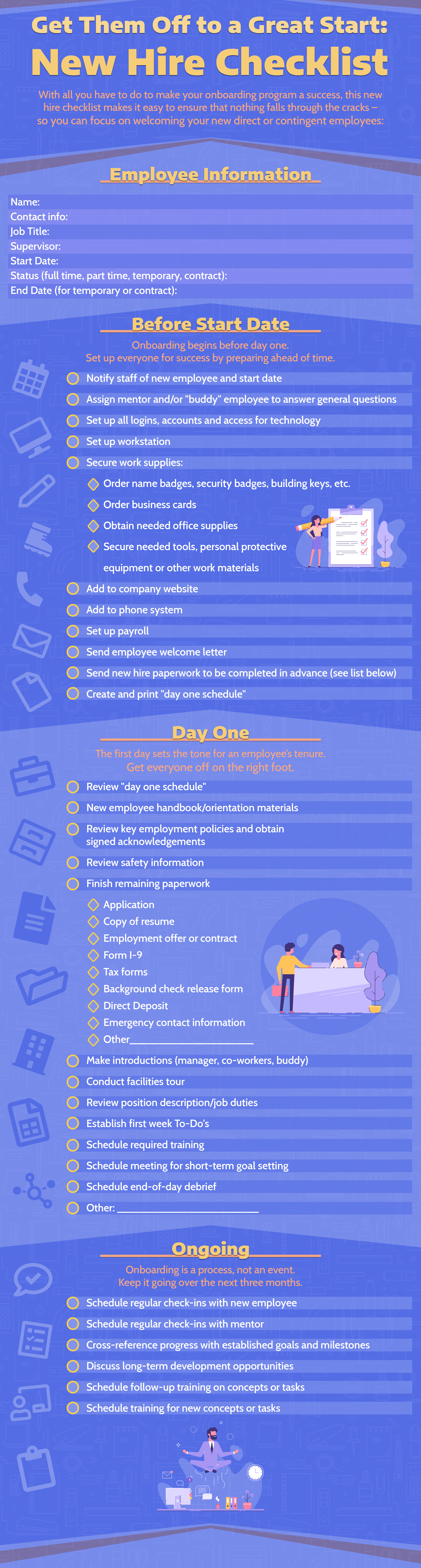 Get Them Off to a Great Start: New Hire Checklist