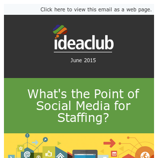 Social Media for Staffing, What's the Point?