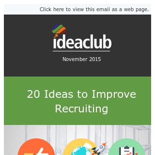 20 Ideas to Improve Recruiting