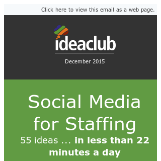 Master social media for staffing - in 22 minutes a day!