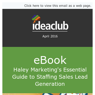 [eBook] The Essential Guide to Staffing Sales Lead Generation