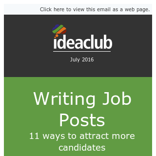 [Idea Club] 11 ways to write better job posts